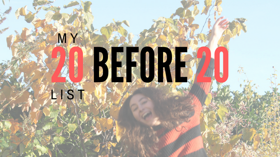 20 things I want to do by20
