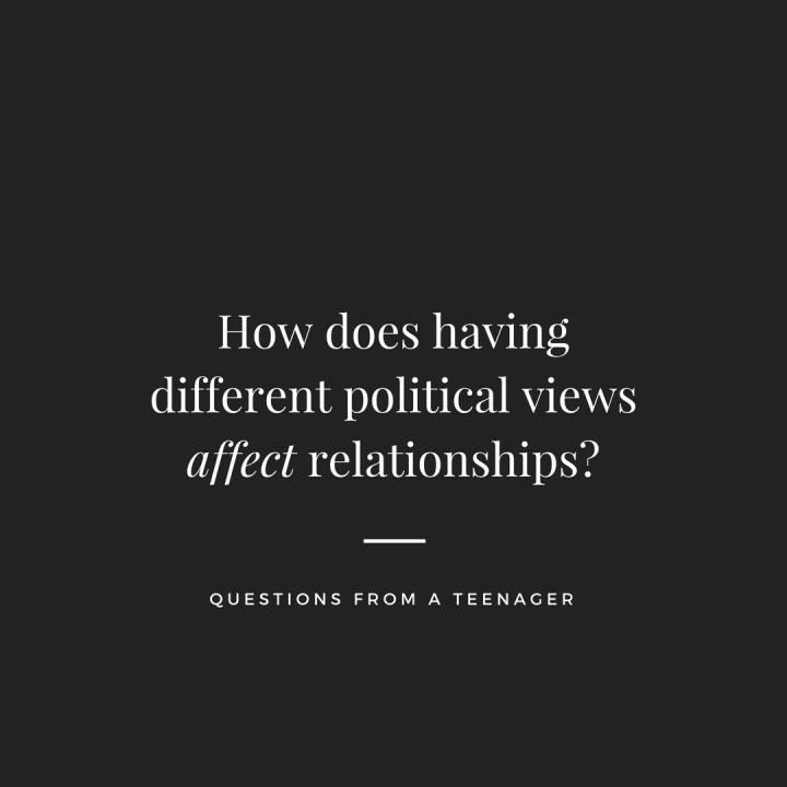 Having different political opinions